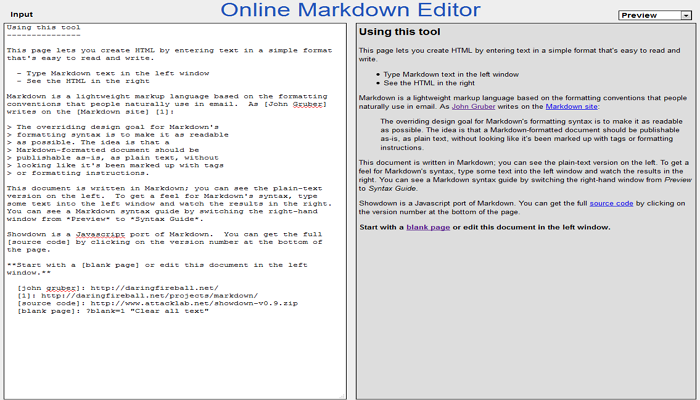 Online Markdown Editor
